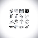 Web signal icons Royalty Free Stock Photos