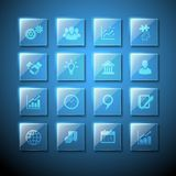 Web Signs Glass Plate Icons Stock Photos