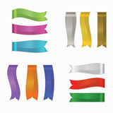 Web Silk Ribbons Set, Vector Illustration, Promotional Products Stock Image