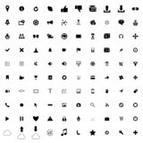 100 web simple icons. For web and mobile devices royalty free illustration
