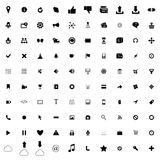 100 web simple icons Stock Photography