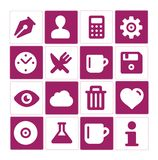 Web and simple pictograms set isolated Stock Photos