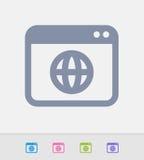 Web site - ícones do granito ilustração do vetor