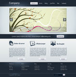 Web site. Business design template Royalty Free Stock Image