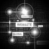 WEB SITE Fotografia de Stock