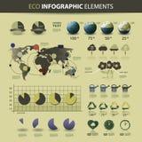 Web site & elementos infographic do projeto Fotografia de Stock Royalty Free