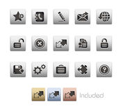 Web site & Internet più la serie metallica di // Immagine Stock Libera da Diritti