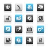 Web site & Internet più la serie opaca delle icone Fotografia Stock