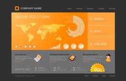Web site arancione di Infographics Fotografie Stock