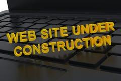 Web site bajo construcción Fotos de archivo libres de regalías
