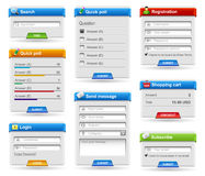 Web site blog forms - login, registration Royalty Free Stock Image