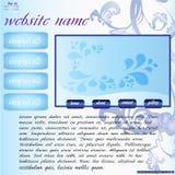Web site in blu Immagini Stock Libere da Diritti