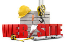 Web site building. Stock Photo