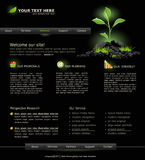 Web site for business. black with green sprout Stock Photo