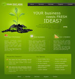 Web site for business. green with green sprout Stock Photo