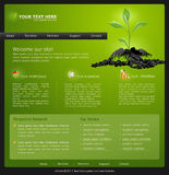 Web site for business. green with green sprout Royalty Free Stock Photography