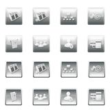 Web site buttons menu template Royalty Free Stock Photo
