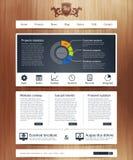 Web site com infographics Imagens de Stock