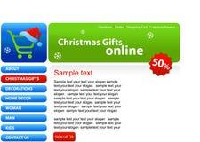 Web site - compras de la Navidad stock de ilustración