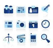 Web site, computer and business icons Stock Photography