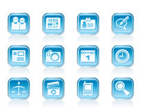 Web site, computer and business icons Royalty Free Stock Images