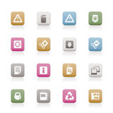 Web site and computer Icons Stock Images