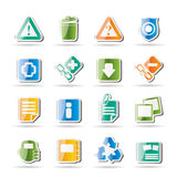 Web site and computer Icons Royalty Free Stock Photography