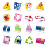 Web site and computer Icons. Vector Icon set Stock Photo