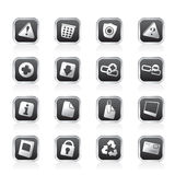 Web site and computer Icons Royalty Free Stock Images