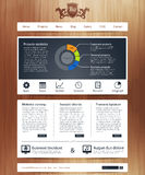 Web site con infographics Imagenes de archivo