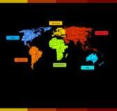 Web site con la correspondencia de mundo Fotografía de archivo libre de regalías