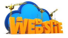 web site construction Stock Photo