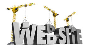 Web site construction Royalty Free Stock Image
