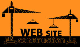 Web site construction Stock Photography