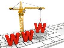 Web site in costruzione illustrazione di stock