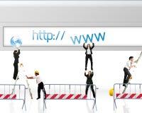 Web site in costruzione Fotografia Stock