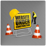 Web site in costruzione royalty illustrazione gratis