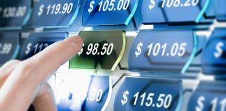 Web site da comparação do preço, encontrando o melhor negócio Foto de Stock Royalty Free