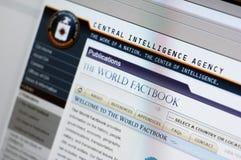 Web site de CIA - página de Internet principal Fotografia de Stock Royalty Free