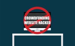 Web site de Crowdfunding cortado Foto de Stock