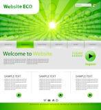 Web site de Eco Imagem de Stock