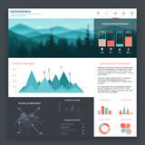 Web site de Infographic Foto de Stock Royalty Free