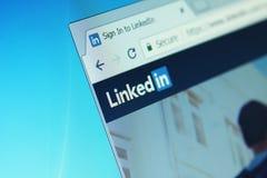 Web site de LinkedIn imagem de stock