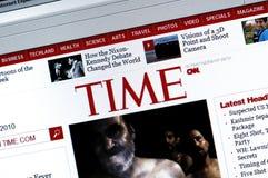 Web site de TIME.com fotos de stock royalty free
