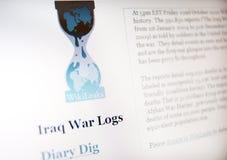 Web site de Wikileaks Imagen de archivo libre de regalías