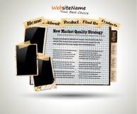 Web site del estilo de la vendimia del libro de la foto Imagenes de archivo