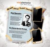 Web site del estilo de la vendimia del libro de la foto Fotos de archivo