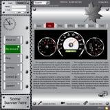 Web site del modello circa i soggetti automobilistici. Fotografie Stock Libere da Diritti