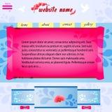 Web site dell'orchidea Fotografie Stock Libere da Diritti