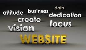 Web site an der vordersten Reihe Lizenzfreie Stockbilder